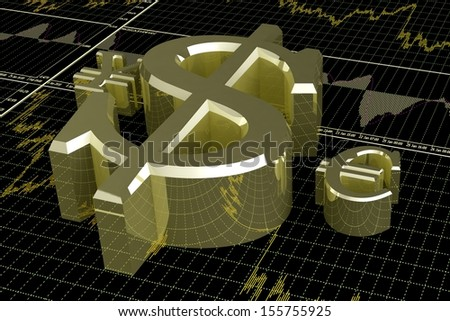 Forex concept - stock photo