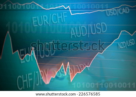 forex stock exchange - stock photo
