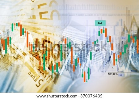 Forex Traders Background. Currency Exchange and Trading Business Concept Illustration. - stock photo