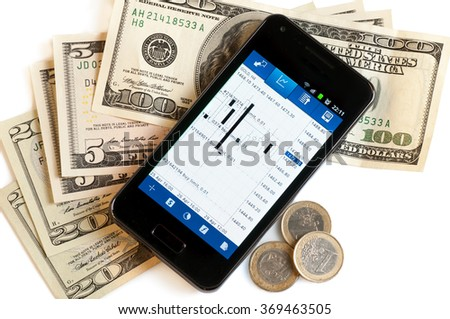 Forex trading with mobile phone