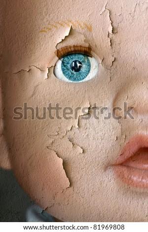 forgotten childhood - stock photo