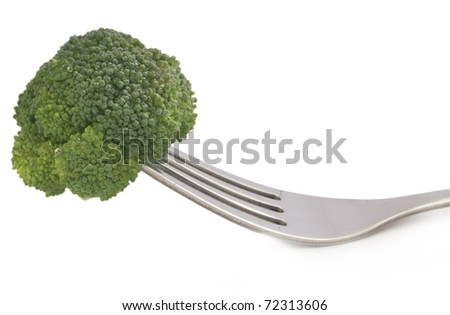 fork and broccoli