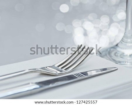 Fork Knife Elegant Table Setting Festive Stock Photo (Download Now) 127425557 - Shutterstock : table setting fork and knife - pezcame.com
