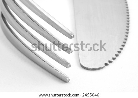 fork and knife IV - stock photo