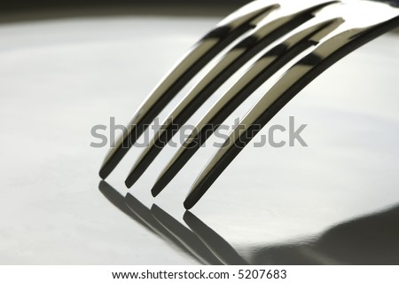 Fork close-up - stock photo