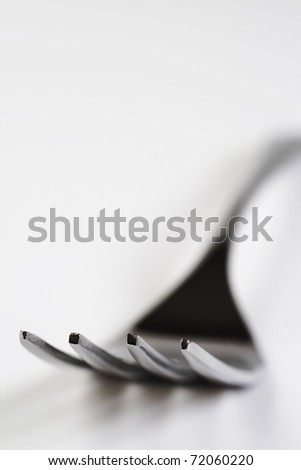 fork isolated on white