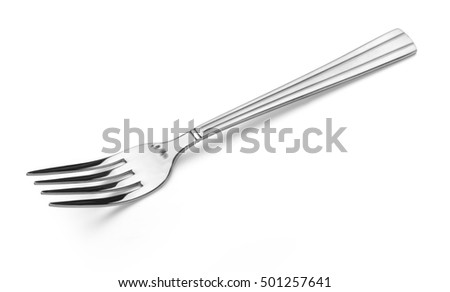 fork isolated on white background with clipping path