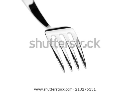fork isolated over white background - stock photo