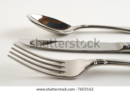 Fork,knife and spoon - stock photo