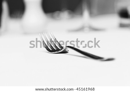 Fork on the table - shallow depth of field