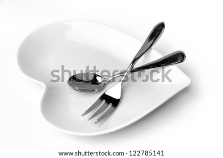 Fork spoon tableware - stock photo