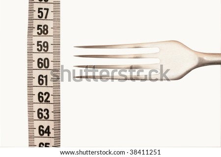 fork with a tape on a white background