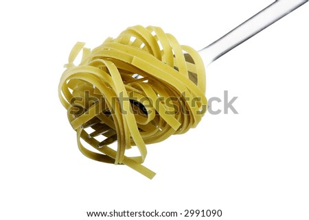 Fork with Pasta - stock photo
