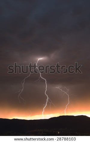 Forked Lightning - stock photo
