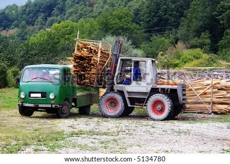 Forklift - stock photo