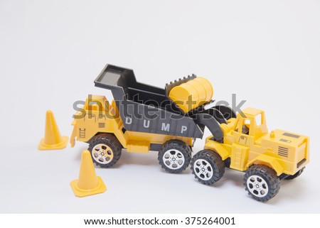 forklift car toy Abstract background