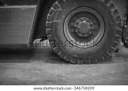 Forklift the waste from industrial applications. Wait maintenance - stock photo