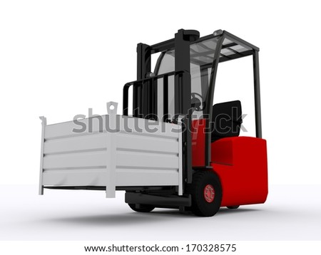 forklifter with metal box