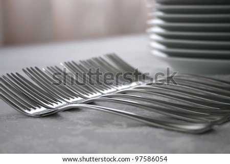 Forks and plates