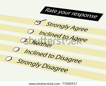 Form for survey response option - stock photo