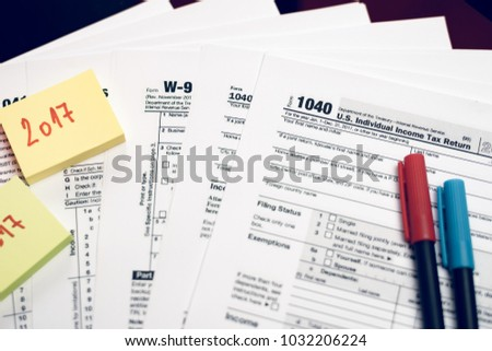 Form 1040 Individual Income Tax Return Stock Photo Image Royalty