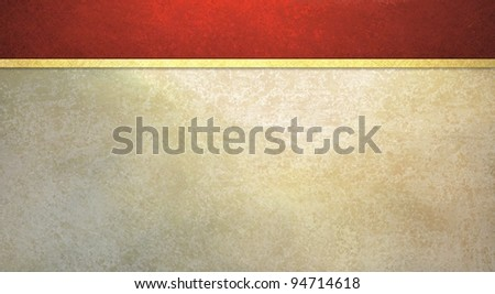 formal background with vintage red sponge texture and old white wall illustration with yellow gold ribbon stripe has copy space for web template or elegant party invitation - stock photo