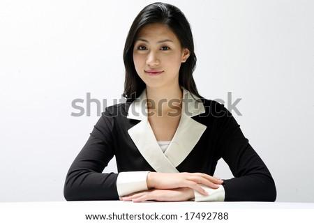 Formal Dress Asian Woman - stock photo