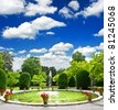 formal garden. public park in stuttgart, germany - stock photo