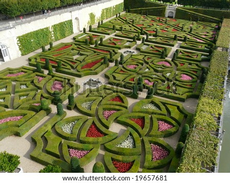 Formal Gardens Including Love Garden Chateau Stock Photo (Royalty ...