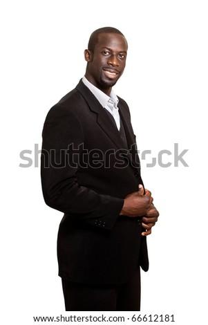 Formal Man on White - stock photo