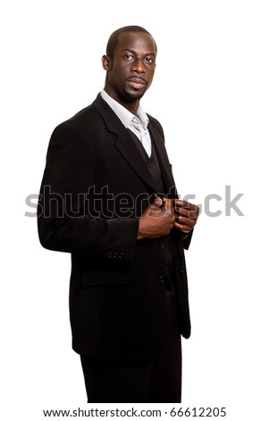 Formal Man on White