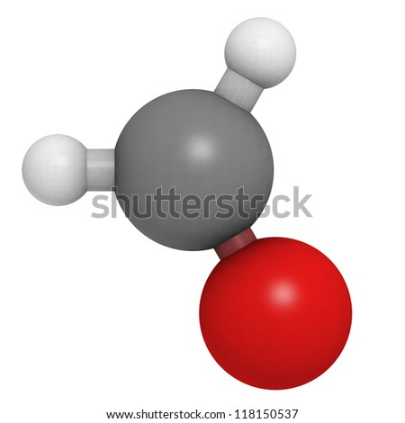 Formaldehyde (CH2O) molecule, chemical structure