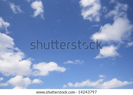 Formation of White Clouds on Blue Sky