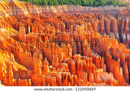 Formations at bryce canyon ampitheater - stock photo