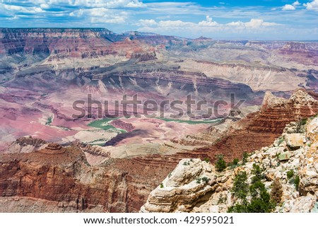 Formations at Grand Canyon, South Rim, Arizona, USA - stock photo