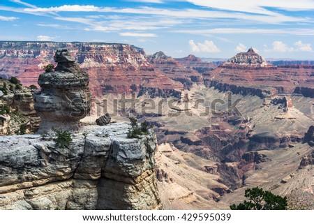 Formations at Grand Canyon, South Rim, Arizona, USA - stock photo