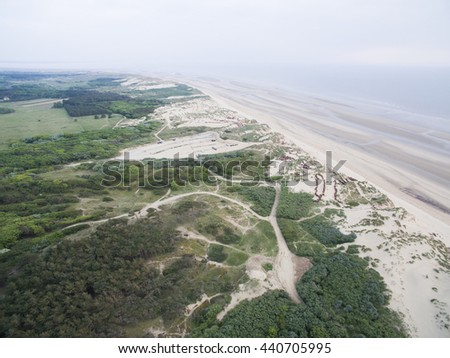 Formby beach aerial view