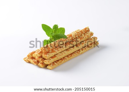 formed heap of cheese sticks - stock photo