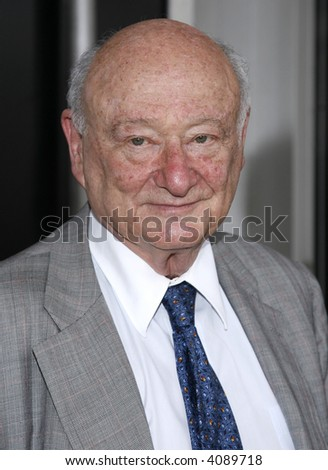 Former New York City mayor Ed Koch attends the screening of ESPN's new mini-series 'The Bronx Is Burning'  at the Tribeca Cinemas on July 5, 2007 in New York City. - stock photo