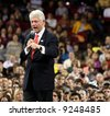 Former President Bill Clinton giving a speech at the University of Denver on Jan 30, 2008 - stock photo