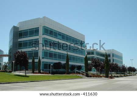 Former Silicon Valley headquarters building, Redwood City, California - stock photo