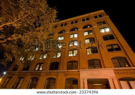 Former Texas school book depository building - stock photo