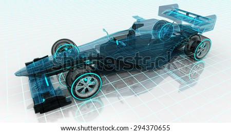 formula car technology wireframe sketch upper front view motorsport product background design of my own - stock photo