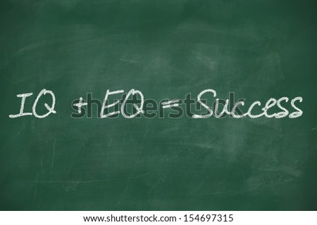 formula for success iq eq success concept - stock photo