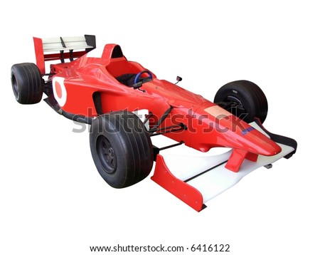 formula 1 isolated - stock photo