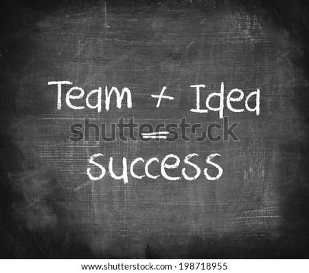 Formula of success handwriting on chalkboard  - stock photo