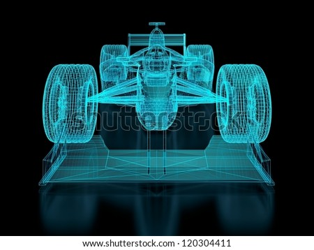 Formula One Mesh. Part of a series. - stock photo
