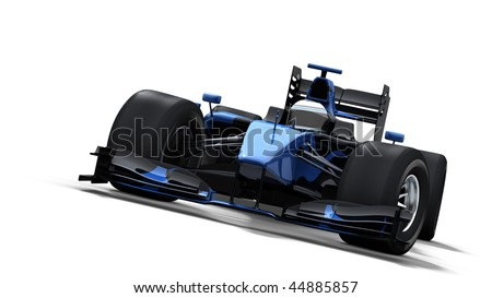 formula one race car on white background - high quality 3d rendering - my own car design