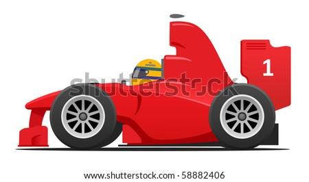 Formula race car - stock photo