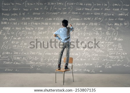 Formulas  - stock photo